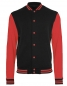 Preview: Mens College Jacke schwarz-rot
