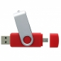 Preview: USB-Stick Double Clip rot