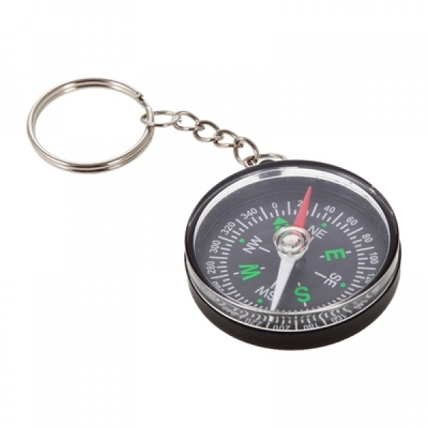 Keyring with compass