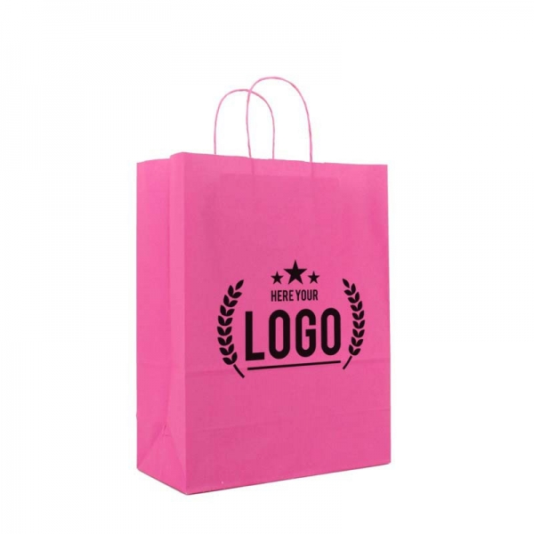 recyle Paper bag pink